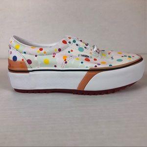 VANS Era Stacked Platforms UV Ink Dots Floral Shoe